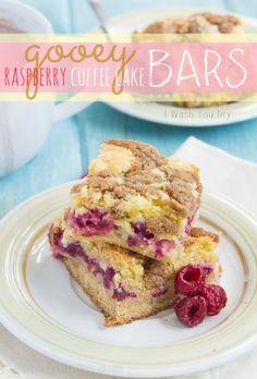 Gooey Raspberry Coffe Cake Bars~