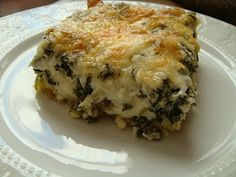 Everyone usually has one or two traditional food dishes that they have every Christmas. One of ours is Spinach Cheese Casserole. Side Dish Recipes, Vegetable Recipes, Spinach Casserole, Good Food, Yummy Food, Awesome Food, Delicious Recipes, Spinach And Cheese, Spinach Pie
