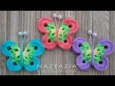 Knitting Patterns Booties How to Crochet Sweet Simply Butterfly - DIY Tutorial Butterflies Mariposa Borboleta Crochet Butterfly Free Pattern, Crochet Stitches Patterns, Crochet Patterns Amigurumi, Knitting Patterns, Easy Crochet, Crochet Hooks, Free Crochet, Crochet Scarves, Simple Butterfly