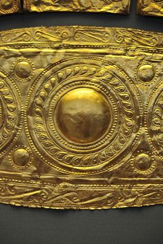 Detail from Gold Diadem from the Shaft Grave III of Grave Circle A at Mycenae, Athens National Archeological Museum - 16th century BC