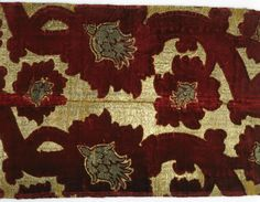 Title: Brocade Place of creation: Italy Date: First half of 15th century Material: silk with gold thread Inventory Number: Т-3325