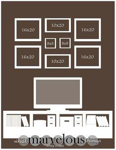 """I need to re-vamp my family photo wall..... need ideas! Photo Wall Display Templates - """"Magnolia Crescent"""" by tameka"""