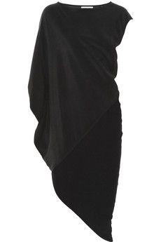 KAUFMANFRANCO Drapiertes Kleid aus Stretch-Seiden-Crêpe und Stretchjersey   NET-A-PORTER