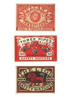 Vintage matchboxes from around the world