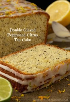 Poppyseed Citrus Tea Cake with double-glazed icing - perfect for snacks, brunch, dessert or just when you hear the call for something citrusy… Tea Cakes, Cupcake Cakes, Cupcakes, Cake Recipes, Dessert Recipes, Sweet Bread, Coffee Cake, Let Them Eat Cake, No Bake Cake