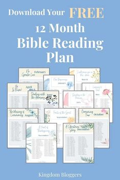 Are you looking for a monthly Bible reading plan? This bible study plan focuses on different topics each month. Printable Bible Reading Plans, Daily Bible Reading Plan, Bible Study Plans, Bible Plan, Bible Study Guide, Scripture Reading, Beginner Bible Study, Scripture Study, Soap Bible Study