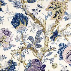 Gender neutral fabric for curtains. P Kaufmann Mandarin Garden Tropical Blue Discount Fabric Online, Buy Fabric Online, Blue And White Fabric, Teal Blue, Yellow, Chinoiserie Motifs, Swatch, Tropical, Drapery Fabric