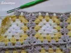 ELİMDEN GELENLER: İplik Koparmadan Motif Birleştirme Crochet Coat, Crochet Granny, Joining Granny Squares, Crochet Bedspread, Blanket, Pattern, Herb, Crochet Bags, Bedspreads