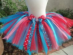 {Cat in the Hat Dr. Seuss Tutu} i could make this!