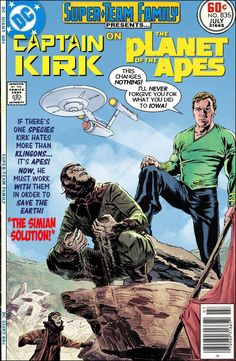 Super-Team Family: The Lost Issues!: Captain Kirk on the Planet of the Apes