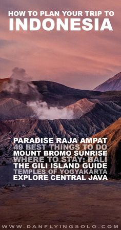 From where to stay in Bali, what to explore in Java, best times to visit, the weather and visas... everything you need to plan your Indonesia trip.