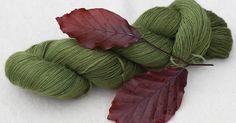 Färbung mit Blutbuchenblättern . . . , der die unausrottbare Behauptung widerlegt, mit Pflanzenfarben ließe sich nur eingeschränkt grü...