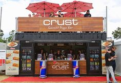Shipping Containers – Container Sale and Hire by Price and Speed – Crust pizza bar – modified containers Container Bar, Container Coffee Shop, Container Design, Shipping Container Restaurant, Used Shipping Containers, Shipping Container Homes, Container Buildings, Container Architecture, Kiosk Design