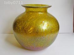 ROYAL BRIERLEY STUDIO RANGE IRIDESCENT ORANGE VASE - RARE & BEST COLOUR (Ref749) | Pottery, Porcelain & Glass, Glass, Art Glass | eBay!