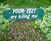 Vintage 1950s Garden Sign Making this for front...next to my client parking! Maybe they will stay off the grass/landscaping!!!!!!