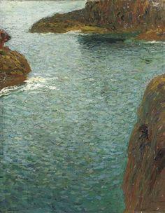 Coastal landscape, Henri Martin (French, 1860-1943),