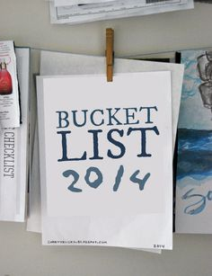 Footprints in the Sand: summer bucket list - 2014