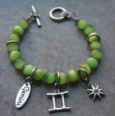 Gemini dangle charm bracelet by DreamsofAsunder on Etsy, $17.00