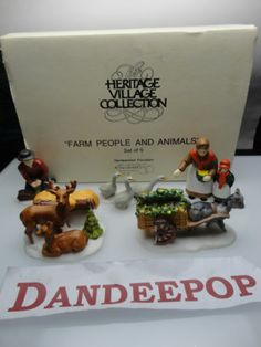 Dept. 56 Department 56 Heritage Village Farm People & Animals 5 pc Retired find me at www.dandeepop.com