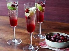 Thanksgiving Cranberry Champagne Cocktail #SunsetTurkeyDay