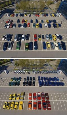 They hired a new valet. He's a little OCD.
