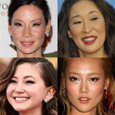 maquiagem para orientais com côncavo marcado