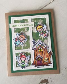 "35 Likes, 1 Comments - Julene VanKleeck (@julenevk) on Instagram: ""More #lawnfawn winter fairies. #cardmaking #christmas"""