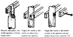 Resultado de imagen para anclaje viga de madera a pared