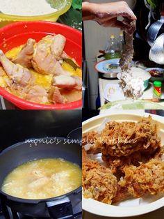 resep ayam goreng krispi Unique Recipes, Asian Recipes, Prawn Noodle Recipes, Crispy Fried Chicken, Kentucky Fried, Good Food, Yummy Food, Western Food, Malaysian Food