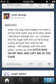 """I read """"dog"""" as """"dad"""" and was terribly concerned about the dad being in a cage..."""
