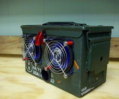 This instructable will demonstrate how to turn a .50 caliber ammunition box into a sweet set of speakers that can be used with your mp3 player, laptop, or any other portable device. This set of speakers is rugged, compact, easy to take on the go, and LOUD! The whole project will cost about $50.00 usd. and can be completed in an afternoon.