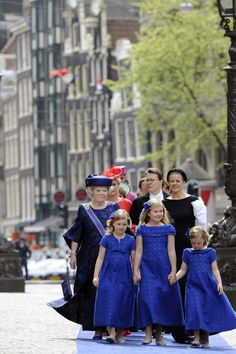 Princess Beatrix and her three granddaughters