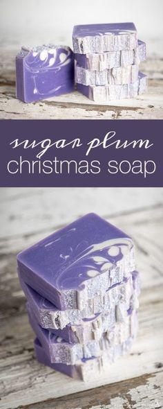 Make Natural, Natural Soaps, Galaxy Bath Bombs, Christmas Soap, Christmas Items, Christmas Wrapping, Homemade Christmas, First Christmas, Savon Soap