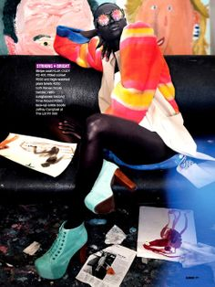 Colour Culture --- Aluad Deng Anei by Neil Kirk for Glamour South Africa May 2014v