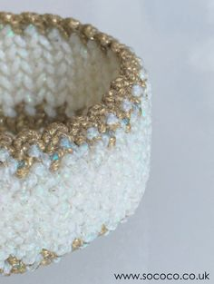 I love Pearly White/Gold SoCoco bracelet  www.sococo.co.uk Macrame Bracelets, White Gold, My Love, Unique, Jewelry, Fashion, Moda, Jewlery, Jewerly