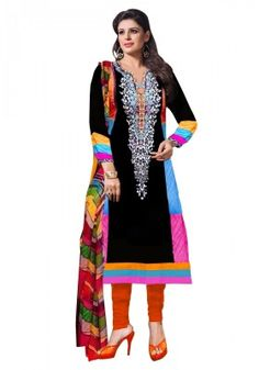 Women s Clothing - Party Wear Cotton Brown Salwar Kameez - - Be stunning and gorgeous by wearing this stylish salwar suit designed beautifully with Embroidery work.Salwaar Suits - Party Wear Cotton Brown Salwar Kameez - - Be st Black Salwar Kameez, Cotton Salwar Kameez, Pakistani Salwar Kameez, Anarkali Suits, Suits Online Shopping, Salwar Suits Online, Black Cotton, Party Wear, Kimono Top