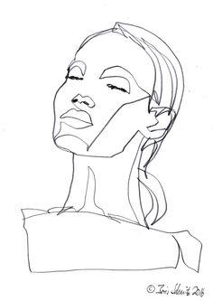 """Gaze 485″, continuous line drawing by Boris Schmitz"