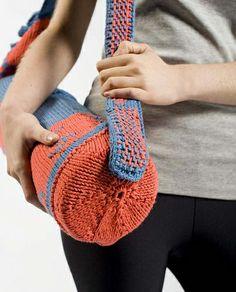 Yoga Bag Pattern, Lotus Yoga, Chair Yoga, Yoga Mat Bag, Yoga For Kids, Knitting For Kids, Knitted Bags, Crochet Projects, Crochet Ideas