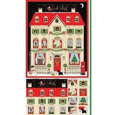 100/% Coton Patchwork Tissu Noël Santa Advent Calendar Panel NUTEX