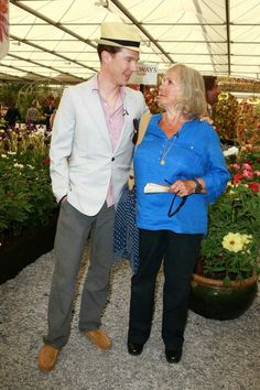 So sweet! Ben & his mum at the Chelsea flower show May 19th 2014