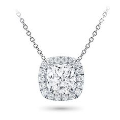 This #halo #pendant setting is stunning and can accommodate a #round or #cushion cut center #diamond 0.20-5.0ct.  #Adiamor #pushpresent
