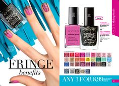 FRINGE benefits - Mix or Match Nail Polishes Any 3 for $8.99 https://www.avon.com/promotions/17616?repId=16402404