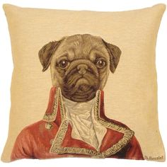 Posh pug dog cushion - too cute but unlikely to make the cut.