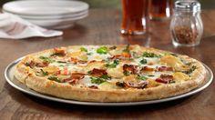 Bacon, Kale and Potato Pizza with Asiago