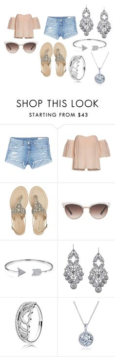 """""""Weekend Outfit"""" by kaeleigh-247 on Polyvore featuring rag & bone/JEAN, Antik Batik, Gucci, Bling Jewelry, 1928, Pandora and Kobelli"""