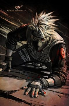 Kakashi Sensei - Until the very end by KejaBlank.deviantart.com on @DeviantArt