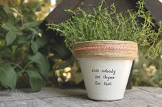 Ain\'t Nobody Got Thyme For That by PlantPuns on Etsy