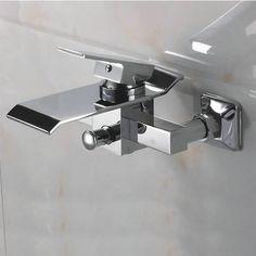 Contemporary Waterfall Brass Bathtub Faucet (Wall Mount) TQ3002W