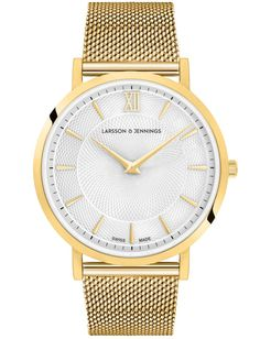 32726eae01 Larsson   Jennings - LUGANO NEW SLOANE 40MM POLISHED GOLD WHITE DIAMOND CM  GOLD ONE