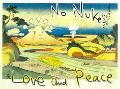 奈良美智 In the floating Worldより「No Nukes Love and Peace」
